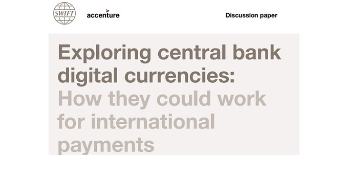 SWIFT and Accenture publish a paper on central bank digital currencies (CBDCs)……