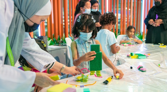 Delightful paper robots spring to life on opening day of Sharjah Children's Reading Festival
