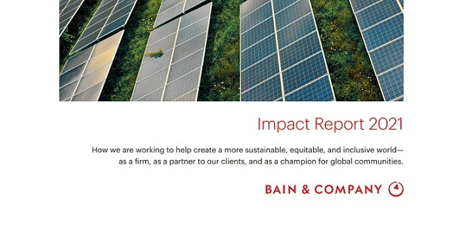 Bain & Company creates a more sustainable, equitable and inclusive world