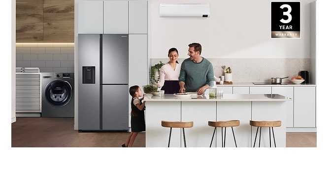 Samsung announces three-year extended warranty for UAE customers on all home appliance purchases