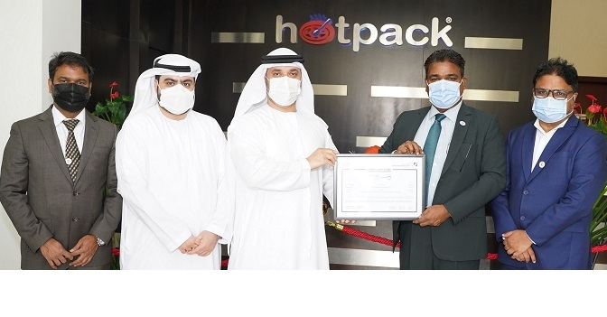 Hotpack certified `Verified Exporter' by DED export promotion entity