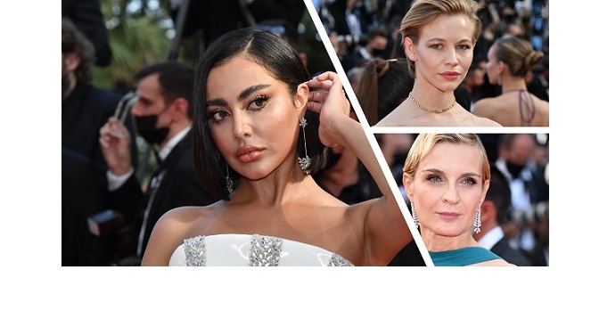 CELEBRITIES IN MESSIKA AT THE OPENING CEREMONY OF THE 74TH CANNES FILM FESTIVAL