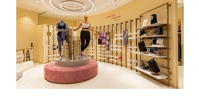 ADIDAS OPENS ITS FIRST STORE DEDICATED TO WOMEN, …..