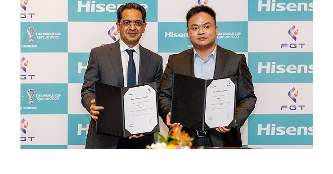 HISENSE MIDDLE EAST PARTNERS WITH FGT FZE…..